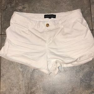 white ambience apparel preppy white shorts